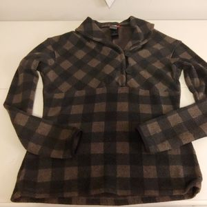 The North Face plaid women's sweater